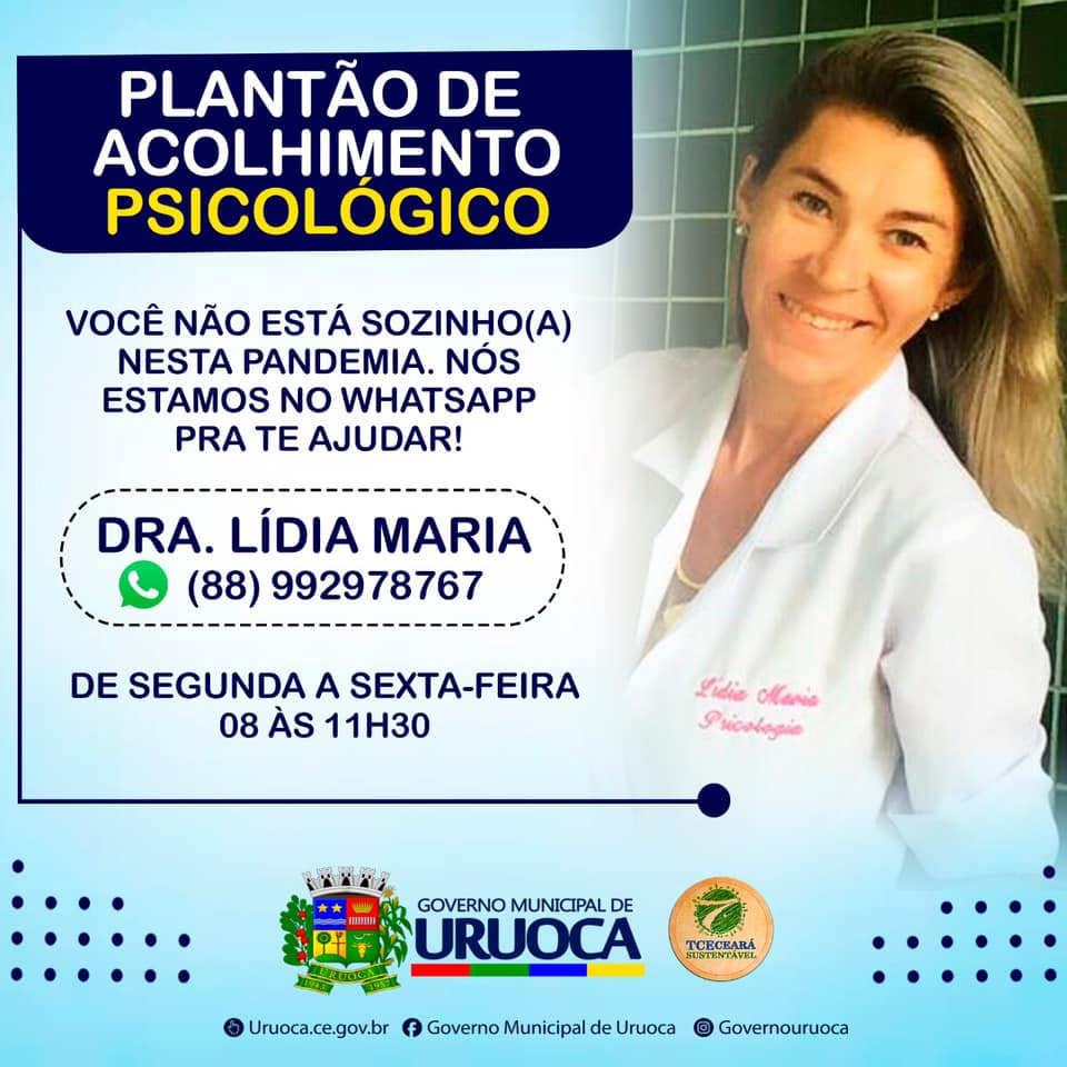 PLANTÃO DE ACOLHIMENTO PSICOLÓGICO