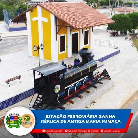 ESTAÇÃO FERROVIÁRIA GANHA RÉPLICA DE ANTIGA MARIA FUMAÇA
