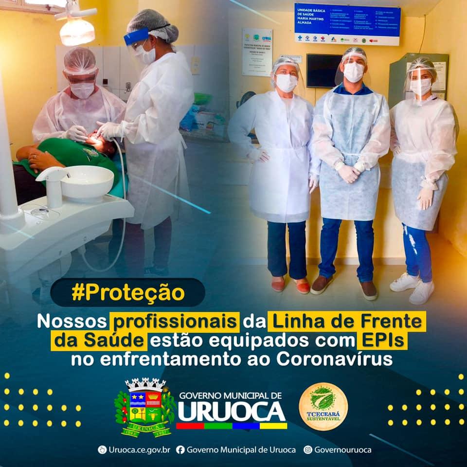 PROFISSIONAIS DA SAÚDE SÃO EQUIPADOS COM EPIs NO ENFRENTAMENTO AO CORONAVÍRUS