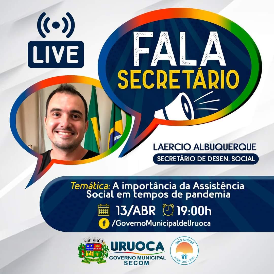 SEGUNDO EPISÓDIO DO PROGRAMA FALA SECRETÁRIO