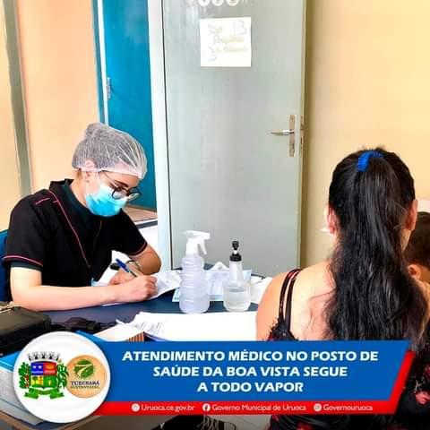 ATENDIMENTO MÉDICO NO POSTO DE SAÚDE DA BOA VISTA SEGUE A TODO VAPOR