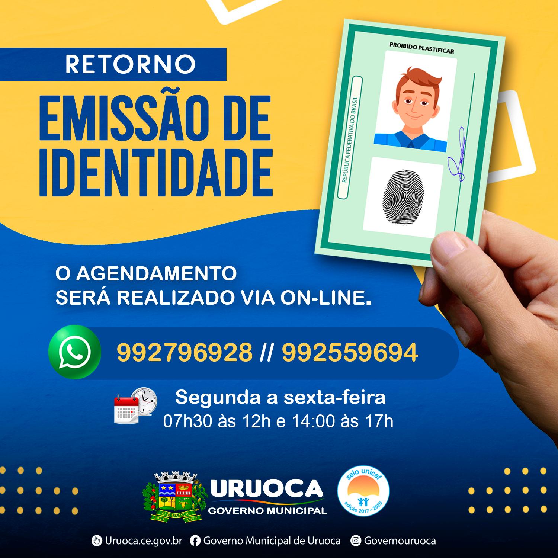EMISSÃO DE CARTEIRAS DE IDENTIDADE É RETOMADA COM CUIDADOS REDOBRADOS