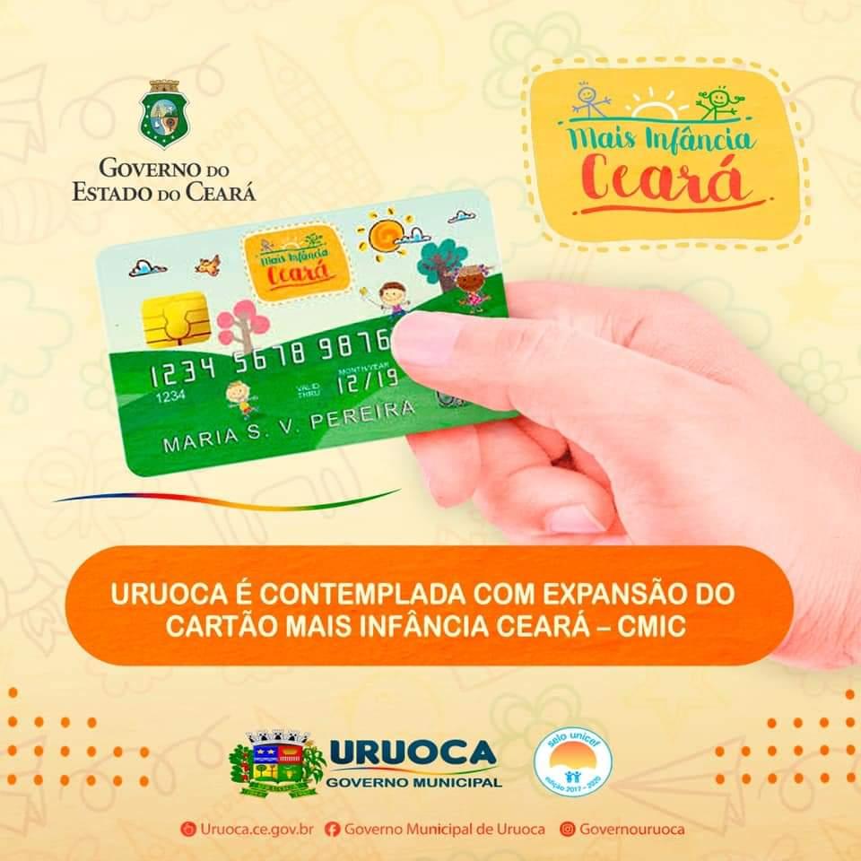 URUOCA É CONTEMPLADA COM EXPANSÃO DO CARTÃO MAIS INFÂNCIA CEARÁ/CMIC