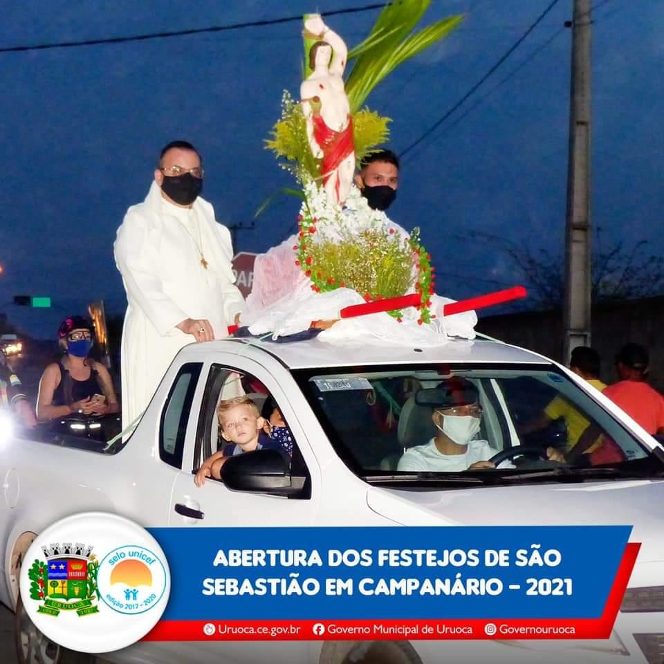 ABERTURA DOS FESTEJOS DE SÃO SEBASTIÃO EM CAMPANÁRIO 2021