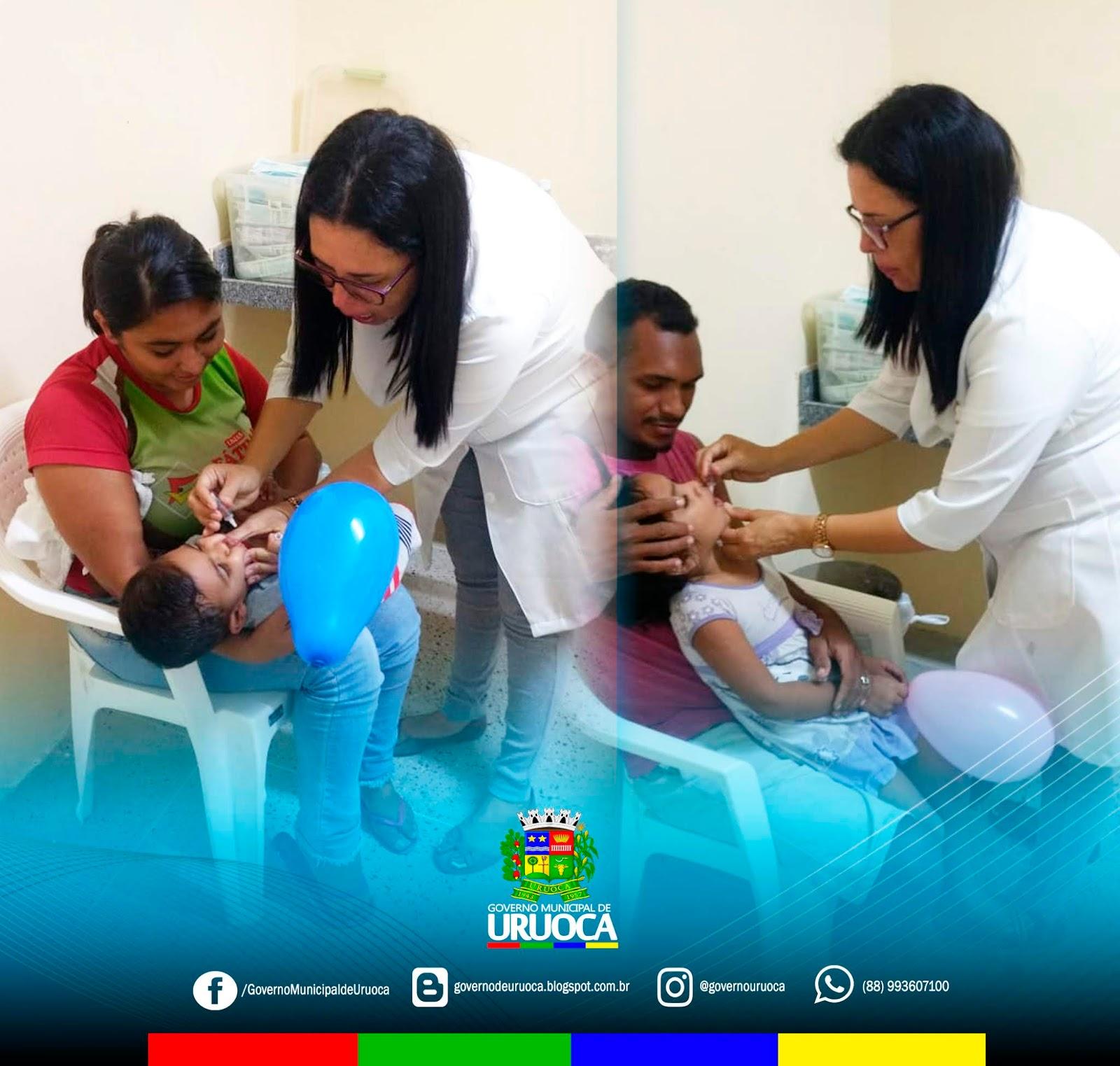 DIA 'D' DE VACINAÇÃO CONTRA O SARAMPO E A POLIOMIELITE EM URUOCA
