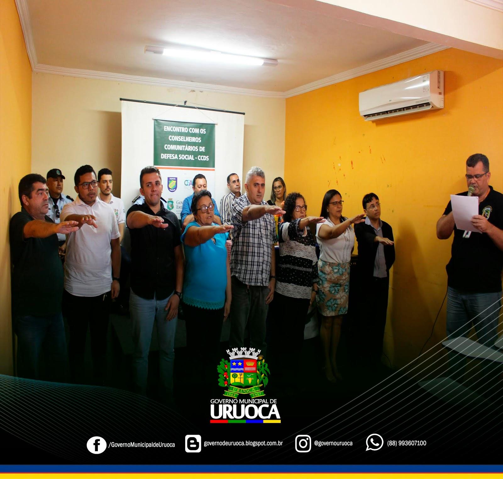 URUOCA AGORA CONTA COM O CONSELHO COMUNITÁRIO DE DEFESA SOCIAL