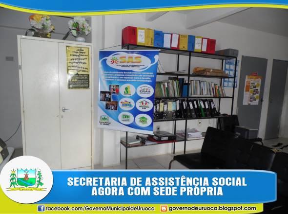 SECRETARIA MUNICIPAL DE ASSISTÊNCIA SOCIAL AGORA COM SEDE PRÓPRIA