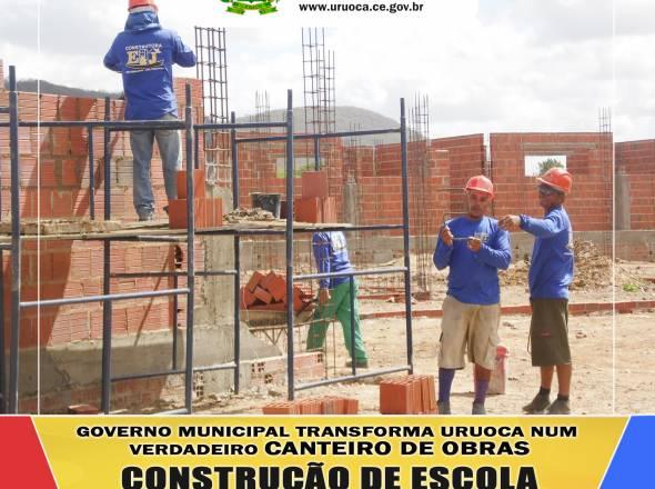 GOVERNO MUNICIPAL TRANSFORMA URUOCA NUM VERDADEIRO CANTEIRO DE OBRAS