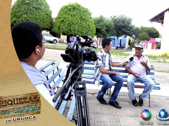 """TV CIDADE GRAVA MATÉRIAS ESPECIAIS EM URUOCA PARA O PROGRAMA \""""RIQUEZAS DO CEARÁ\"""""""