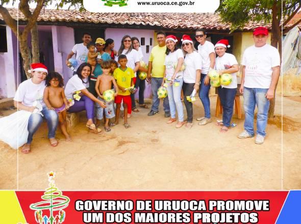 ACREDITANDO NA MAGIA DO NATAL: GOVERNO DE URUOCA PROMOVE UM DOS MAIORES PROJETOS SOCIAIS DA HISTÓRIA
