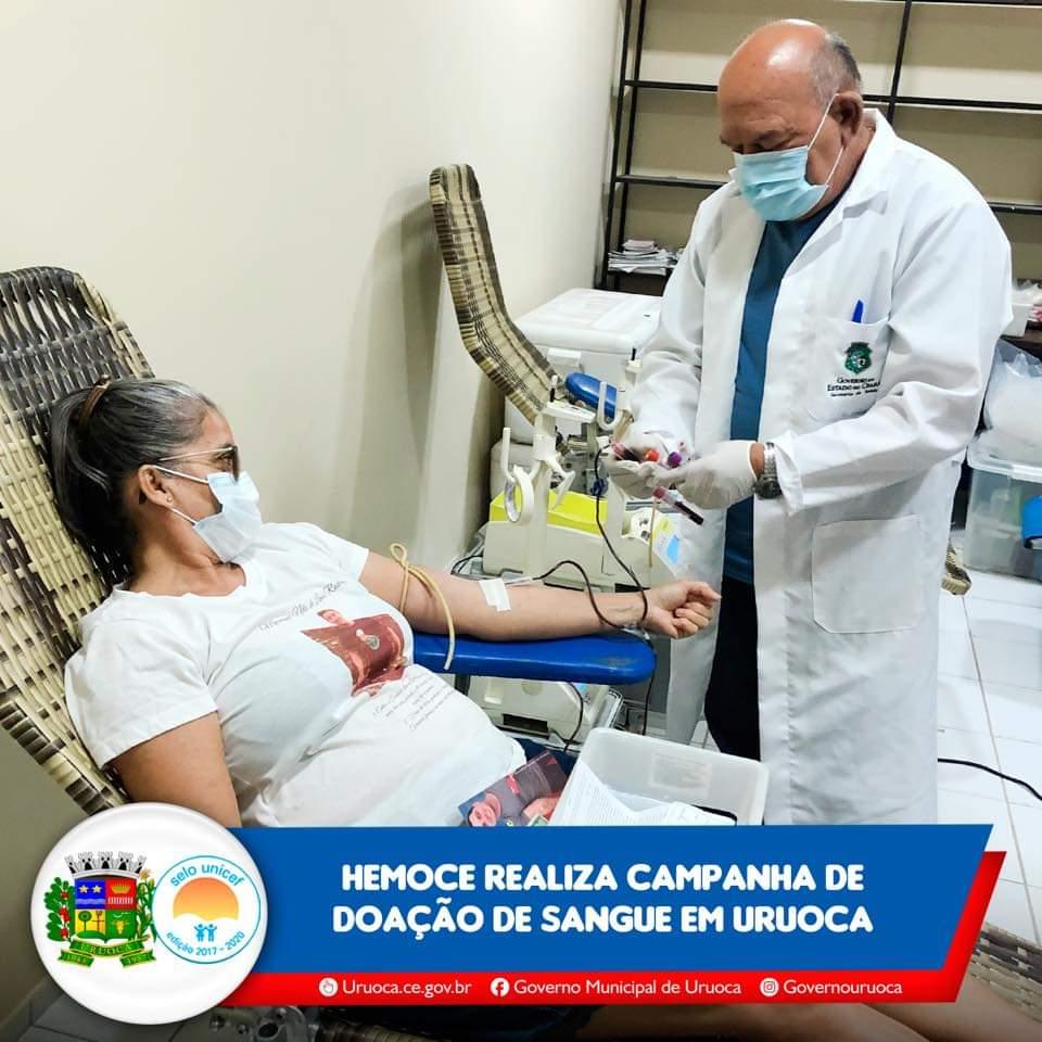 HEMOCE REALIZA CAMPANHA DE DOAÇÃO DE SANGUE EM URUOCA