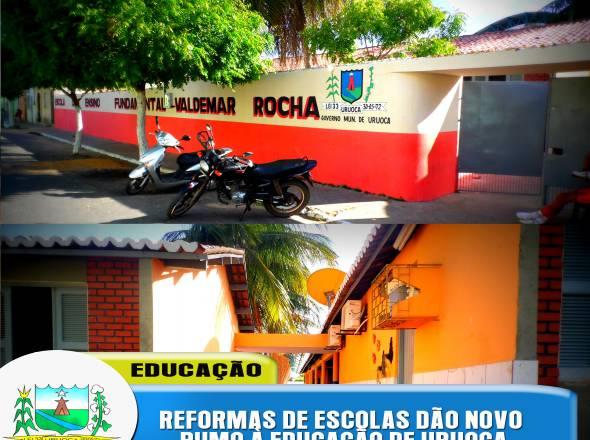 ESCOLAS MUNICIPAIS REFORMADAS