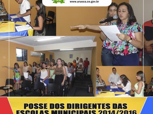 DIRIGENTES DAS ESCOLAS MUNICIPAIS SÃO EMPOSSADOS PARA TRIÊNIO 2014-2016