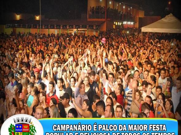 CAMPANÁRIO É PALCO DA MAIOR FESTA POPULAR E RELIGIOSA DE TODOS OS TEMPOS