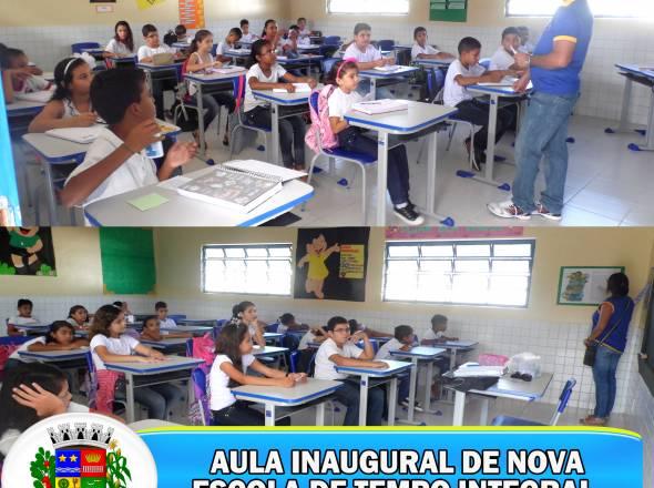 SECRETARIA DA EDUCAÇÃO REALIZA AULA INAUGURAL DE MAIS UMA ESCOLA DE TEMPO INTEGRAL E AMPLIA O ACESSO À EDUCAÇÃO