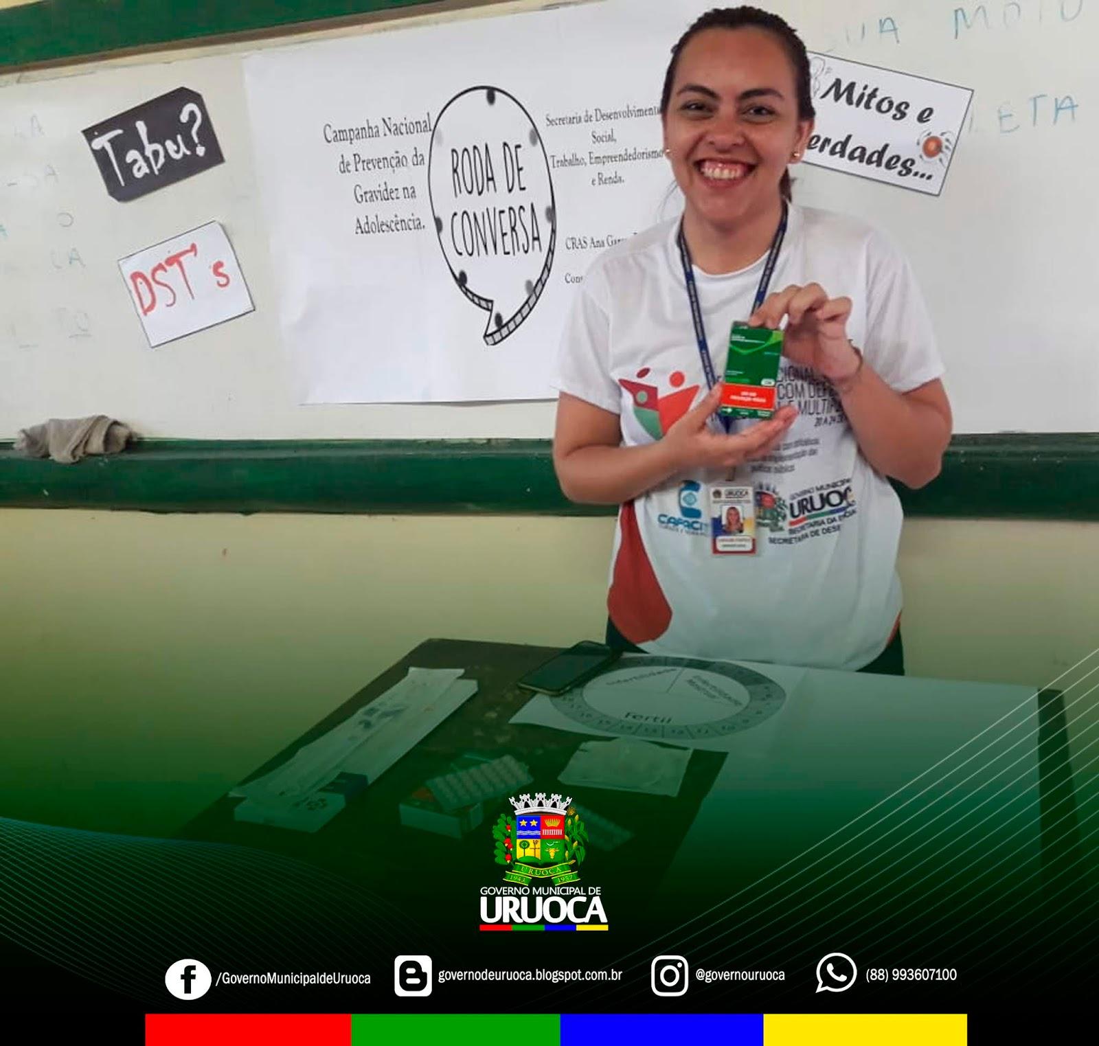 MOBILIZAÇÃO EM ALUSÃO A CAMPANHA DA SEMANA NACIONAL DE PREVENÇÃO DA GRAVIDEZ NA ADOLESCÊNCIA
