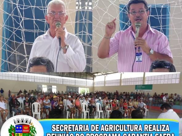 SECRETARIA DE AGRICULTURA REALIZA REUNIÃO DO PROGRAMA GARANTIA SAFRA