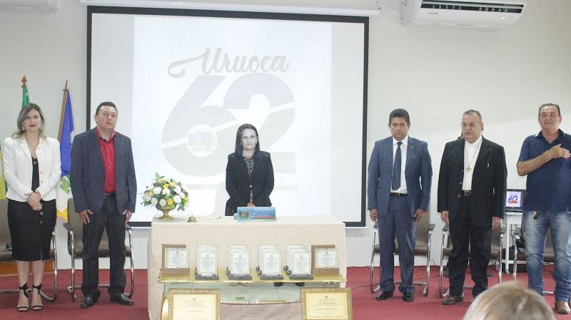 URUOCA 62 ANOS SESSÃO SOLENE EM HONRARIA AO TÍTULO DE CIDADÃO URUOQUENSE