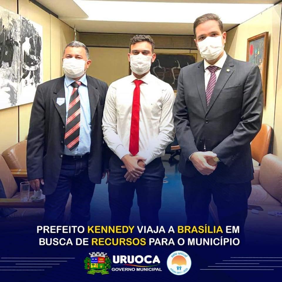 PREFEITO KENNEDY VIAGEM A BRASÍLIA EM BUSCA DE RECURSOS PARA O MUNICÍPIO