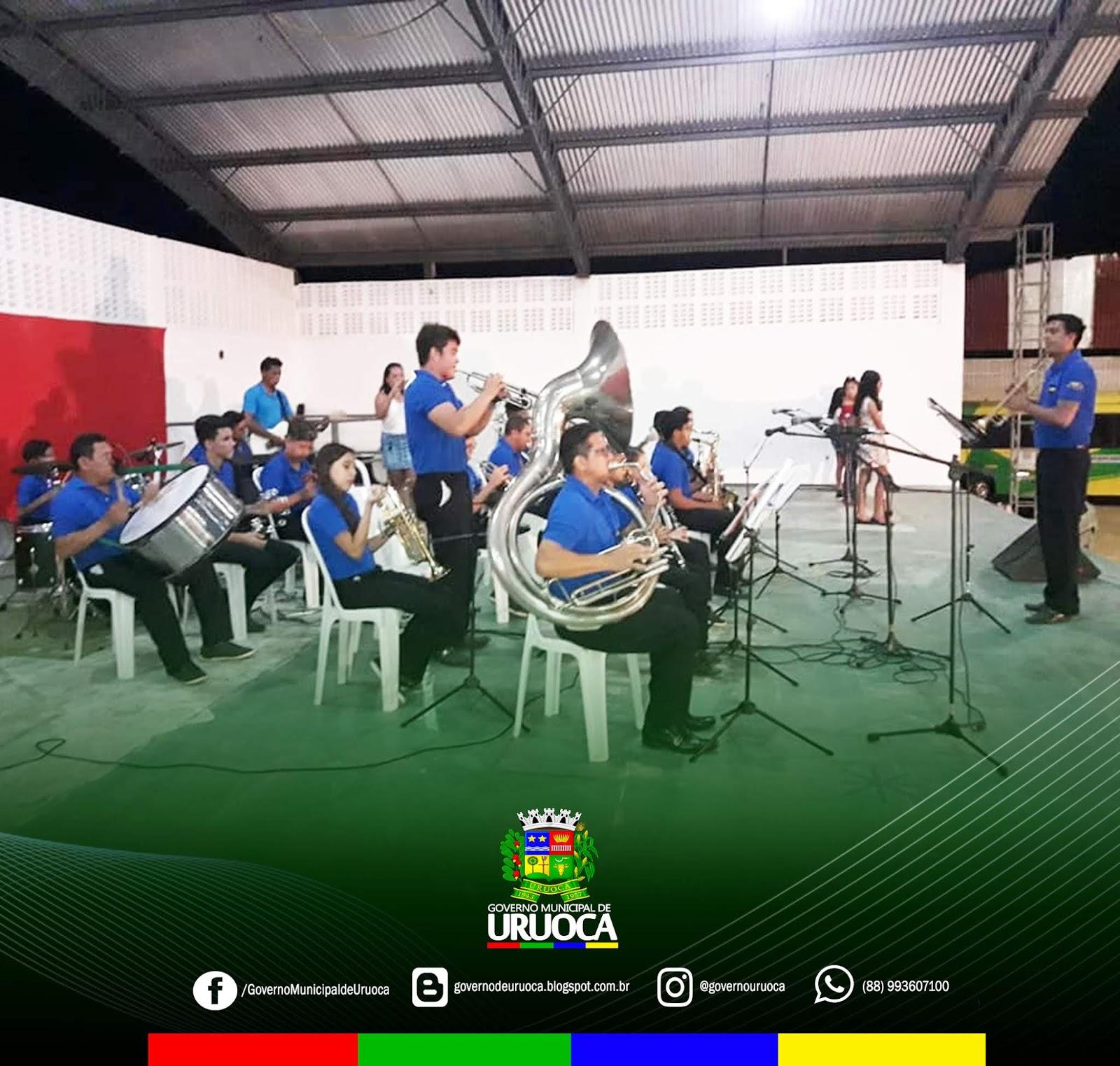 PROJETO ARTE E CULTURA NA PRAÇA ENCONTRO DE BANDAS MUSICAIS É REALIZADO EM URUOCA