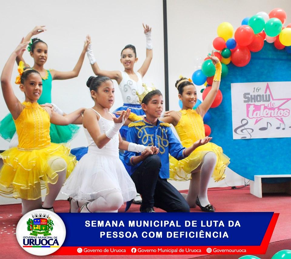 ALUNOS DE URUOCA REVELAM TALENTOS DURANTE SEMANA DA PESSOA COM DEFICIÊNCIA 2019